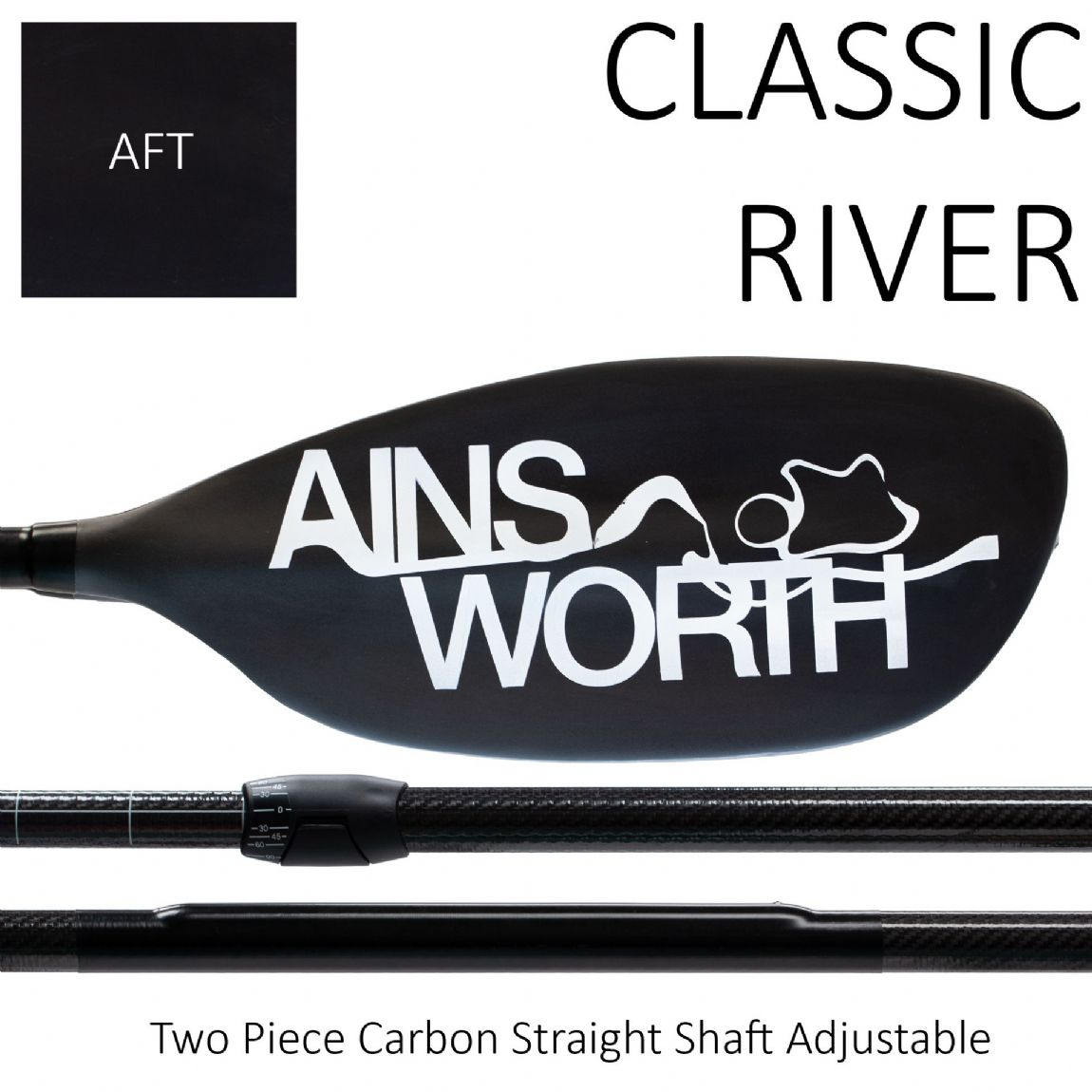 CLASSIC RIVER (AFT)  Two Piece Carbon Straight Shaft Adjustable